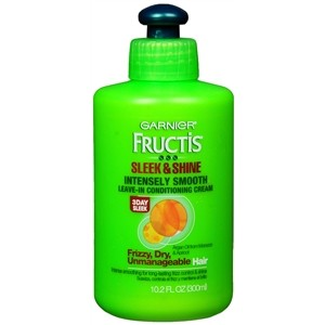 best products for healthy hair Garnier Fructis Sleek & Shine Intensely Smooth Leave-In Conditioning